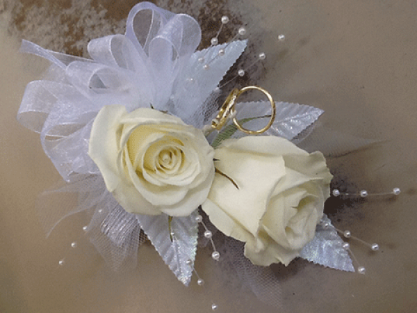 Mother of Bride White Rose Corsage
