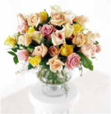 Mixed 24 Roses Vased