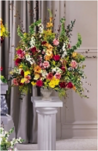 Urn of Mixed Flowers