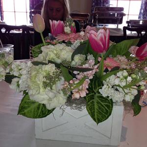 Pink & White Wedding Box