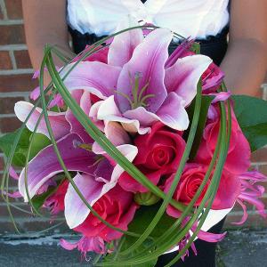 Pink Wedding Lilies