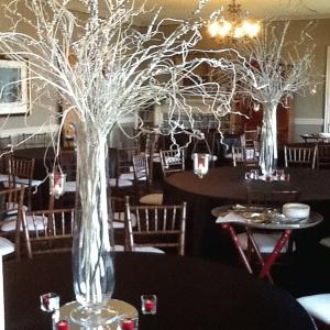 Silver Wedding Center Pieces