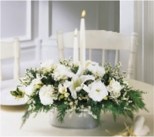 White Holiday Centerpiece