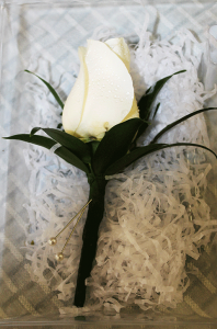Simple White Rose Boutonniere