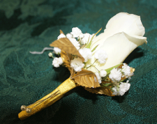 Gold Rose Boutonniere