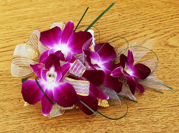 Purple Orchids Corsage