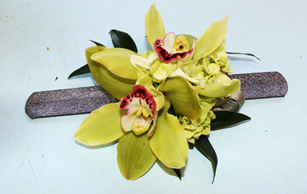 Large Yellow Orchids Wrist Corsage