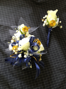 Yellow Roses Corsage and Boutonniere
